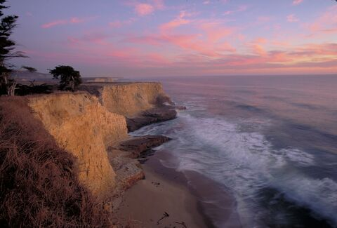 Sunset at coastal cliffs