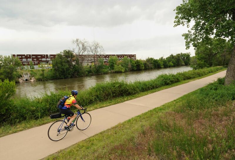 Biking on greenway
