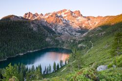 Lower Sardine Lake and Sierra Buttes