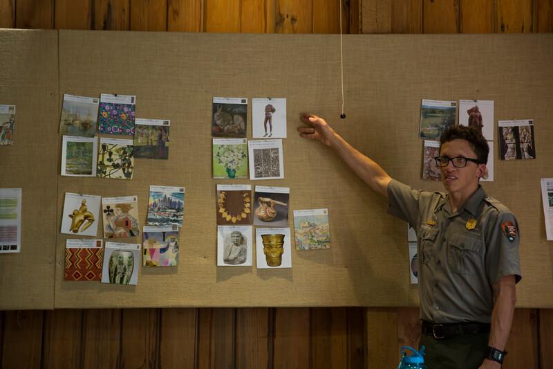 A park ranger makes a presentation