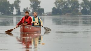 Canoeing East Sandusky Bay in Ohio