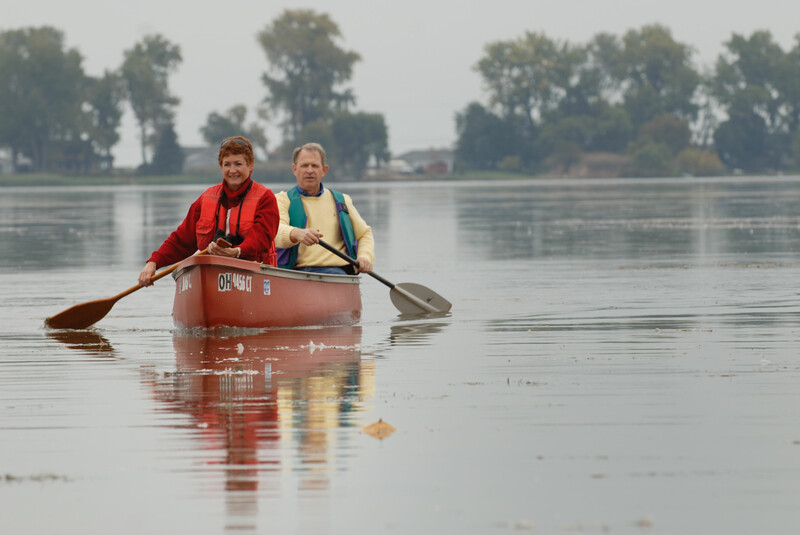 Canoeing East Sandusky Bay in Ohio