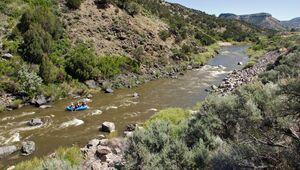 River rafting on the Rio Grande near Pilar, NM