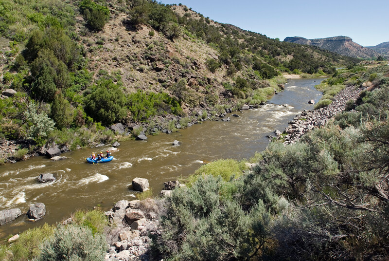 River rafting on the Rio Grande near Pilar, NM