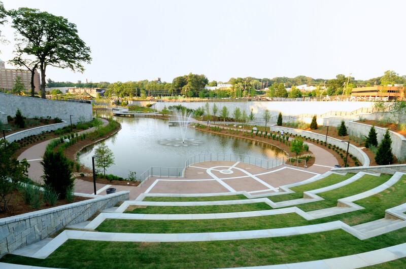 Historic Fourth Ward Park in Atlanta, GA.
